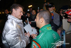 David Coulthard and Tony Kanaan