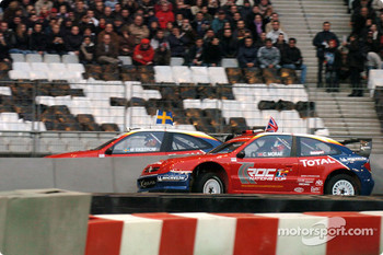 Quarter-final: Colin McRae and Mattias Ekström