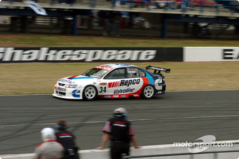 Garth Tander on pit straight