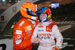 Michael Schumacher and Sébastien Loeb