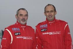 Nissan Dessoude team presentation: co-driver Jacky Dubois and driver Grégoire de Mévius