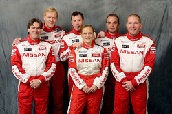 Nissan Rally Raid Team presentation: drivers Ari Vatanen, Colin McRae and Giniel De Villiers, with co-drivers Tiziano Siviero, Tina Thorner and Jean-Marie Lurquin