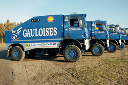 Team de Rooy presentation: the three Team de Rooy rally truck DAF CF75 FAV4x4