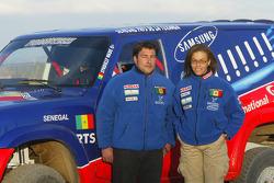 Senegal Racing team presentation: Syndiely Wade and Pierre-Henri Desmazure with the Senegal Racing Nissan Patrol