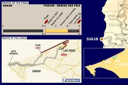 Stage 16: 2005-01-16, Dakar to podium