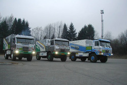 Tomas Tomecek Letka Racing Team presentation: the Tatra 815 Dakar Terrno race trucks and Tatra 815 4X4 assistance truck