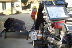 Navigation equipment on Isidre Esteve Pujol's bike