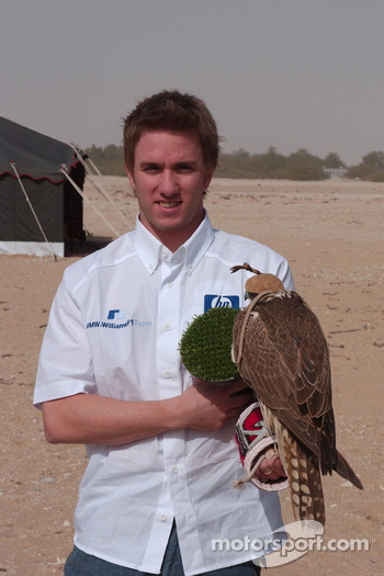 Nick heidfeld with a falcon