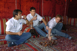 Antonio Pizzonia, Mark Webber and Nick Heidfeld