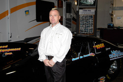 Ed Foley, with his Pro Stock dragster