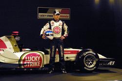 Anthony Davidson and the new BAR Honda 007