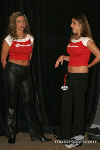 The lovely Bud hostesses