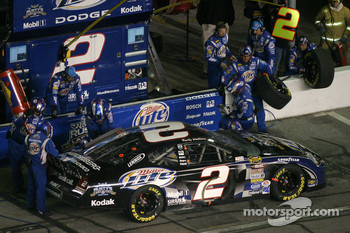 Pitstop at the end of the first segment: Rusty Wallace