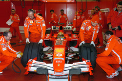 Luca Badoer tests the new Ferrrari F2005