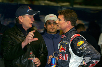 Dr Helmut Marko, Vitantonio Liuzzi and David Coulthard