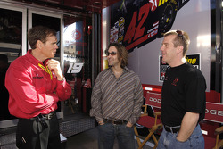 Scott Stapp, formerly lead singer for the band Creed with Ray Evernham and Jeremy Mayfield