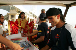 Autograph session for Christian Klien and Vitantonio Liuzzi