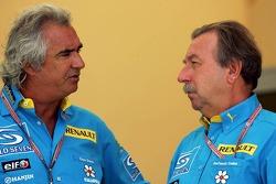 Flavio Briatore and Jean-François Caubet