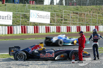 David Coulthard in trouble