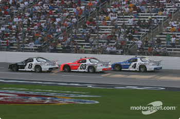 Martin Truex Jr., Helio Castroneves and Bobby Hamilton