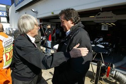 Bernie Ecclestone and Giancarlo Minardi