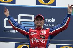 Podium: race winner Heikki Kovalainen