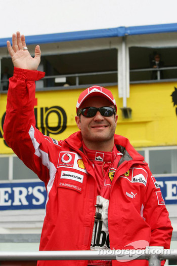Drivers parade: Rubens Barrichello