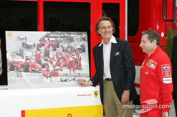 Shell media event: Luca di Montezemelo and Jean Todt