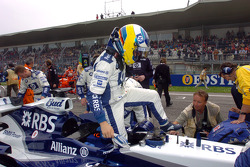 Nick Heidfeld on the starting grid