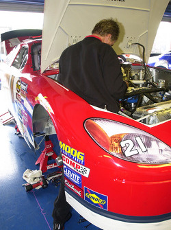Wood Brothers crew member at work