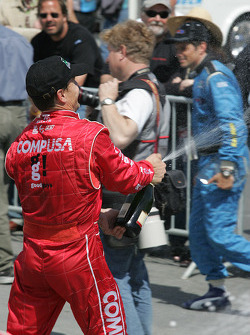 champagne for Scott Pruett