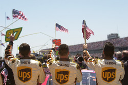 UPS Ford crew during National Anthem