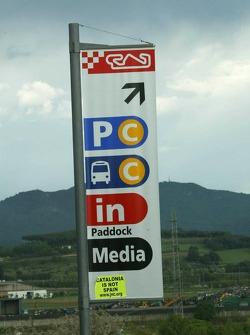 Sign at Circuit de Catalunya
