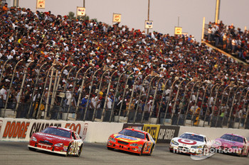 Ricky Rudd leads Bobby Hamilton Jr. and Casey Mears