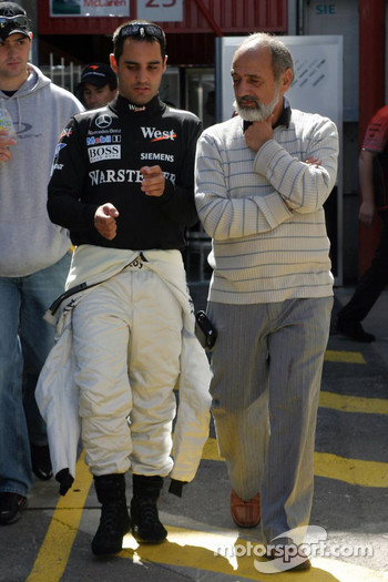 Juan Pablo Montoya with father Pablo