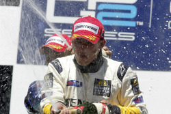 Podium: champagne for Jose Maria Lopez