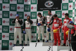 Podium ceremony GT2