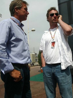 Craig Pollock and Eddie Irvine