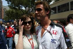 Jenson Button with athlete Emma Davies