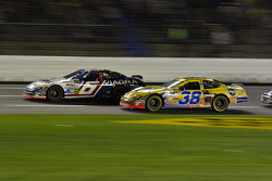 Mark Martin leads the restart after Ryan's crash