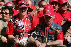 Fans of Michael Schumacher