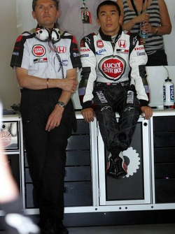 Nick Fry and Takuma Sato