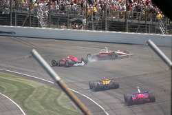 The crash of Scott Dixon and Richie Hearn