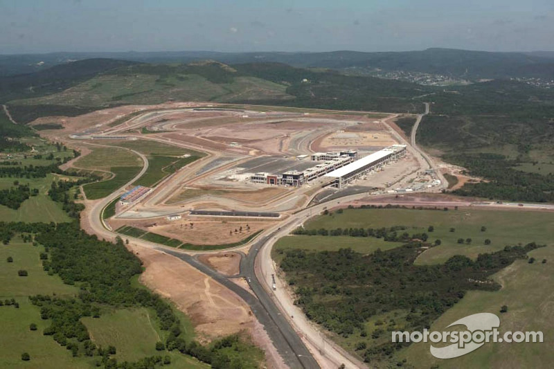 Construction of the new Istanbul Otodrom F1 circuit in Istanbul, Turkey