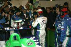 Henri Pescarolo gives last minute advices to Sébastien Loeb