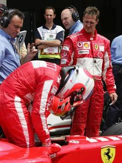 Michael Schumacher and Rubens Barrichello