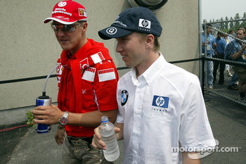 Michael Schumacher and Nick Heidfeld