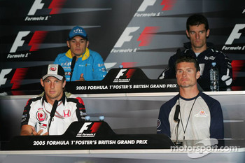 Thursday FIA press conference: Jenson Button, David Coulthard, Giancarlo Fisichella and Mark Webber