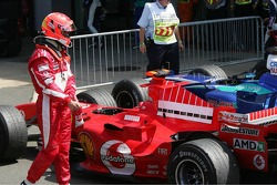 Michael Schumacher in Parc Fermé