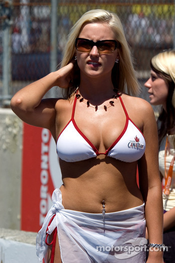 A charming Molson Canadian girl